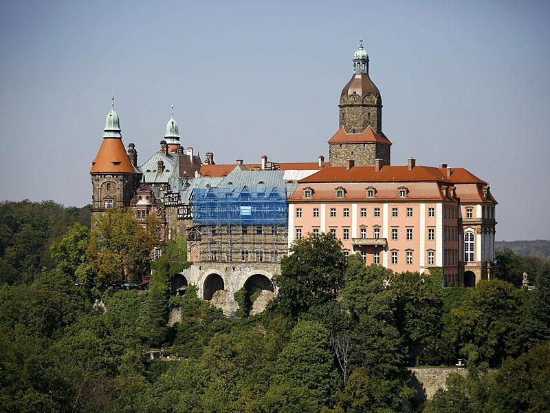 The area close to the Ksiaz Castle in Poland is where a Nazi train is believed to have gone missing during WWII. (Reuters)