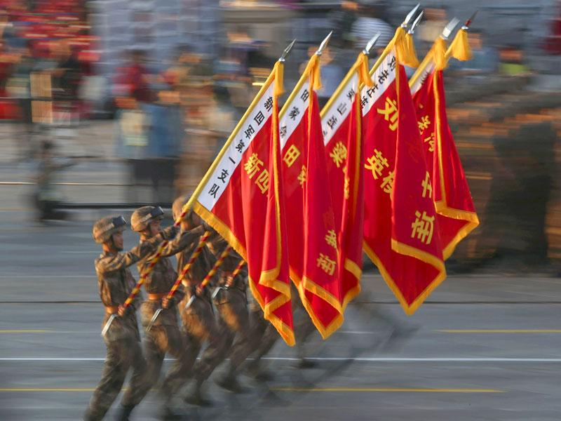 Troops from 17 countries, including Pakistan and Russia, formed part of 1000 foreign soldiers who took part in China's first military parade. (Reuters Photo)