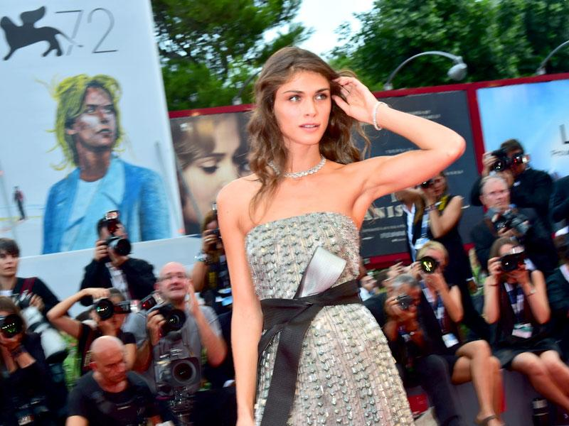 Italian model and actor Elisa Sednaoui arrives at the Venice Film Festival. (AFP)