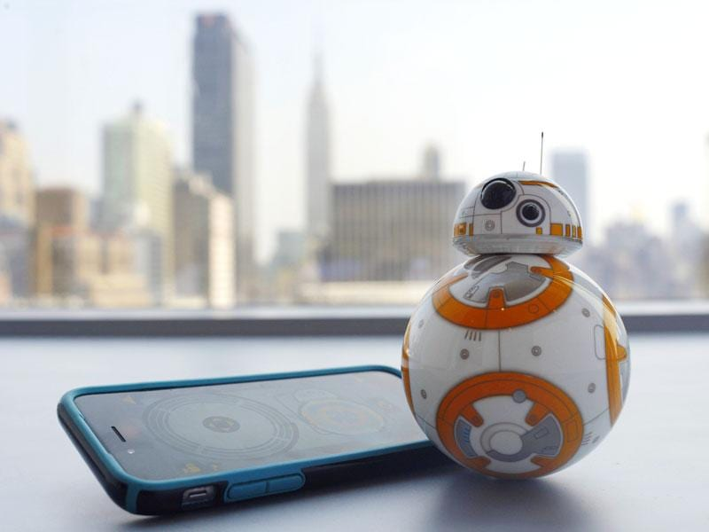 An app-controlled model of BB-8 that responds to your vocal commands. Cool! (AP Photo)