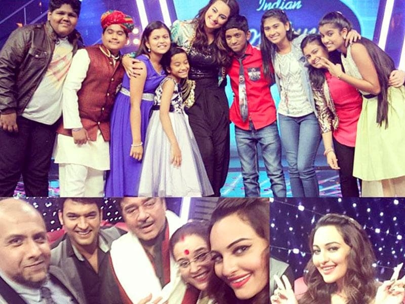 Shatrughan Sinha also joined daughter and actor Sonakshi Sinha for the grand finale of her first reality show, Indian Idol Junior 2. Kapil Sharma also added charm to the evening with his presence. (Photo: AsliSona/Instragram)