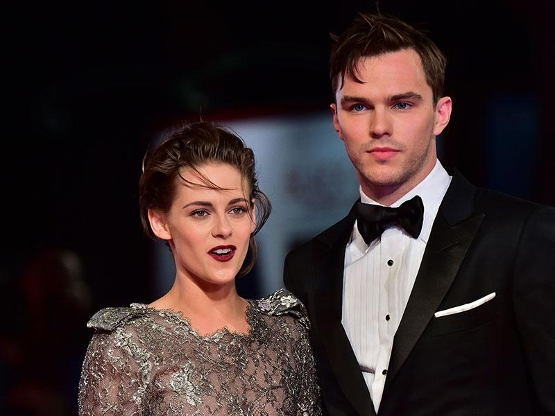 Nicholas Hoult and Kristen Stewart at the Venice premiere of Drake Doremus' sci-fi film Equals. (AFP)