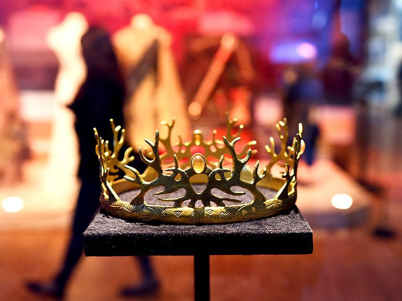 The crown of the House of Baratheon. (AFP Photo)