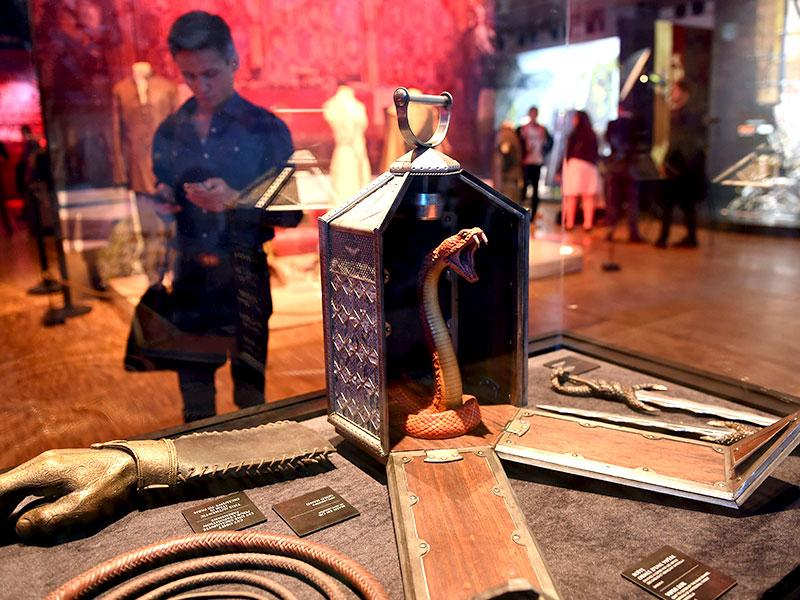 Prop items, such as a Viper Box which carried Princess Myrcella's necklace to Cersei, were pictured at the exhibition. (AFP Photo)