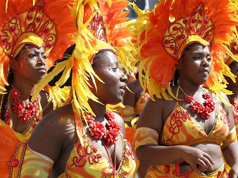Dancers who are members of 1199SEIU United Healthcare Workers East participate in the West Indian Day Parade on September 7, 2015. (AP)