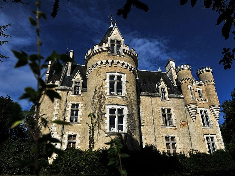 Some castles house inhabitants that never wanted to leave... The well-known haunted castle of Fourgeret, in Queaux, is one of them.  (AFP Photo)