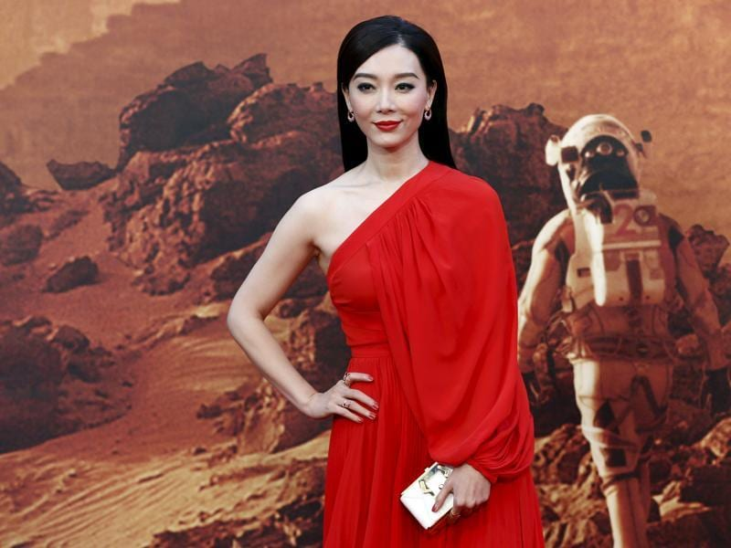 Actress Chen Shu arrives for the UK premiere of The Martian at Leicester Square in London. (REUTERS)