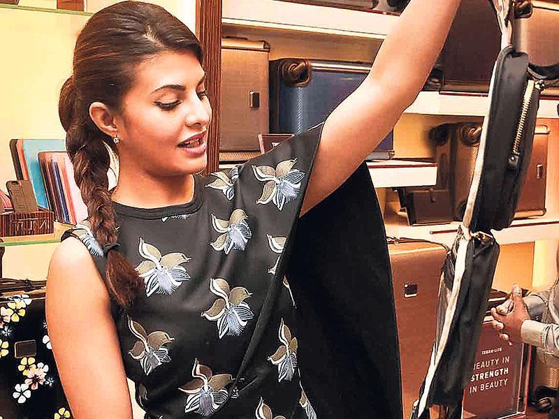 Jacqueline Fernandez checked out accessories at a Mumbai store. (Photo: Yogen Shah)