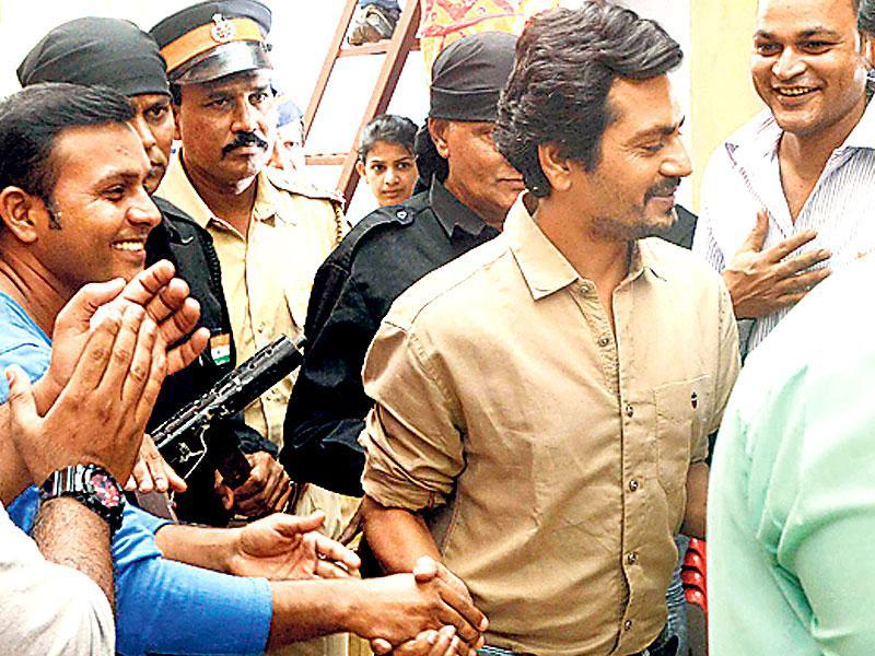 Several people greeted Nawazuddin Siddiqui as he arrived on the sets of a TV show (Photo: Yogen Shah)