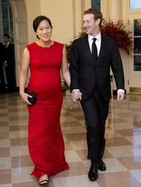 Facebook Chairman and Chief Executive Officer Mark Zuckerberg and his wife Priscilla Chan, arrive for a State Dinner reception in honour of Chinese President Xi Jinping at the White House.. Jinping's promise to crack down on cyber thefts has been seen as a win for the Obama administration. (AP Photo)