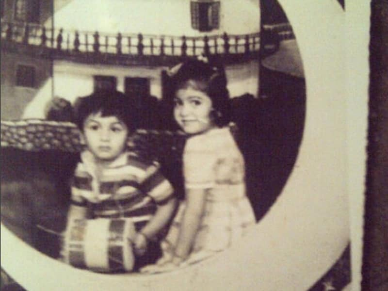 Yesterday once more: An old picture of Ranbir with sister Riddhima. The Bollywood actor turned 33 on Monday. (Instagram/@Neetu54)