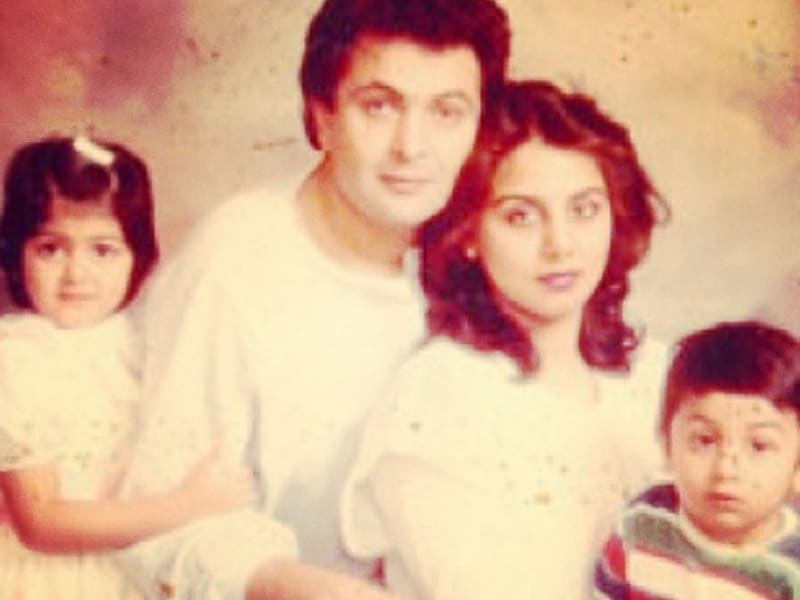 Neetu Kapoor posted a throwback family picture with husband Rishi, daughter Riddhima and son Ranbir. Neetu posted these images  on Instagram over the months.   (Instagram/@Neetu54)