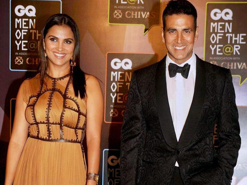 India's most loved celebrities made an appearance at the GQ Men of the Year awards in Mumbai. Akshay Kumar, who was present with his Singh is Bliing co-stars Amy Jackson and Lara Dutta, was adjudged the 'Ultimate GQ Men of the Year'.  (PTI)