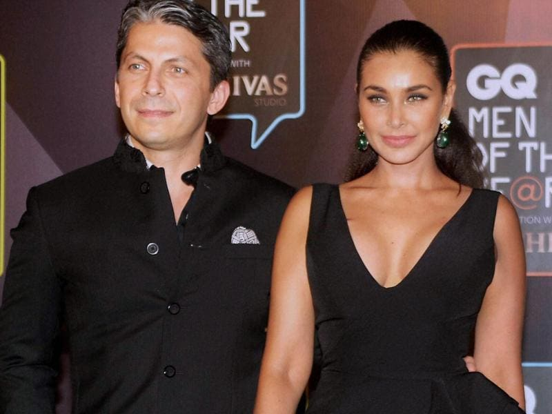 Actor Lisa Ray made an appearance at the awards function with her husband Jason Dehni. (PTI)