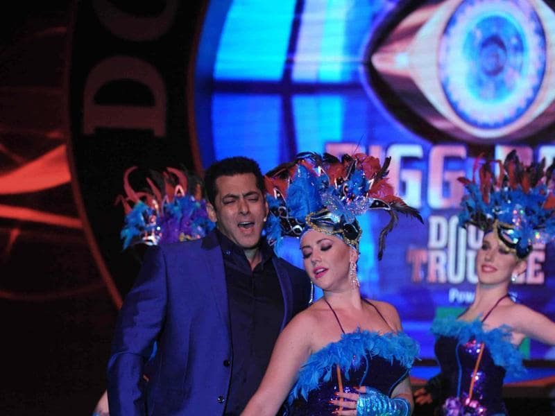 Salman Khan was his funny best during the launch of reality television show Bigg Boss 9 in Mumbai on September.  (AFP)
