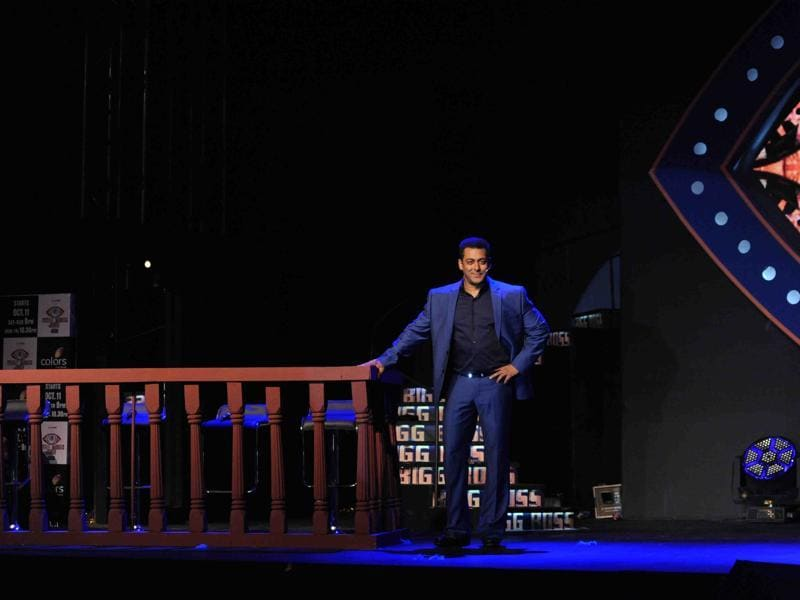 Salman Khan strikes a pose during a promotional event for Bigg Boss 9 in Mumbai on September 28, 2015.  (AFP)
