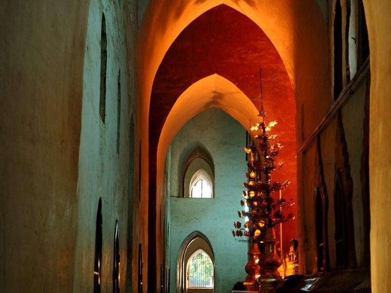 Burma 2009: Interior of one of the 2,300 pagodas in the ancient city of Bagan on the banks of the Irrawaddy river  (Clare Arni)