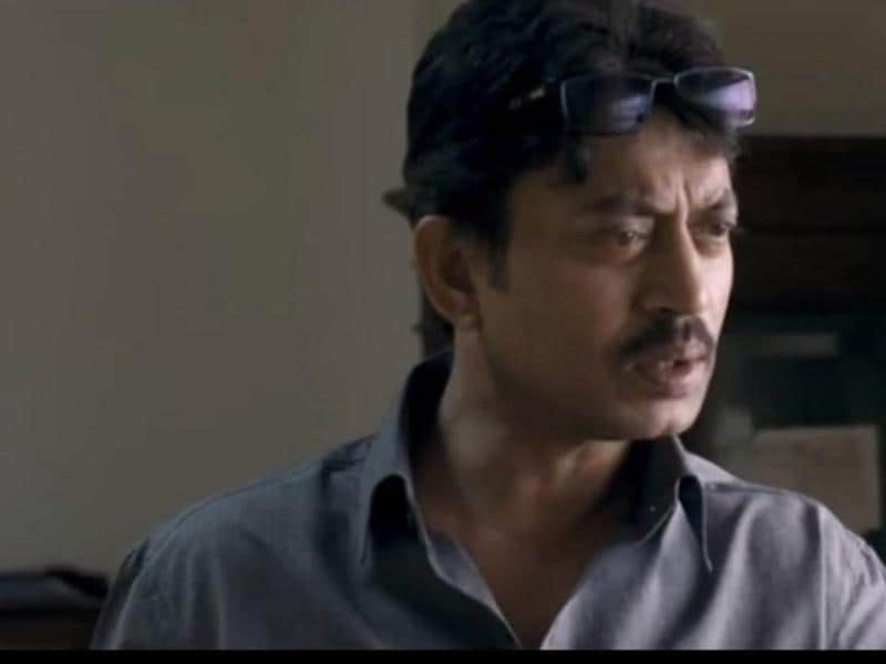 Irrfan Khan plays an investigating officer in Talvar, a film based on the 2008 Aarushi murder case. The movie releases on October 2. (YOUTUBE)