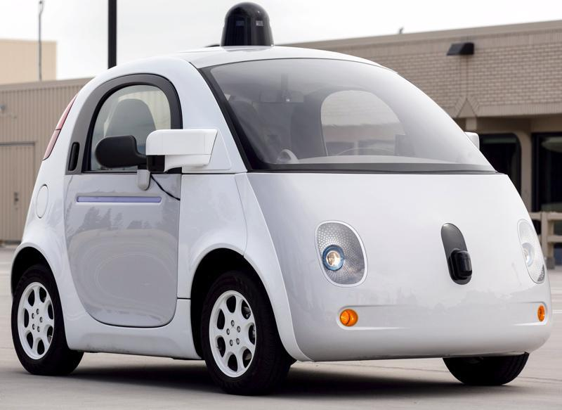 Google let members of the press test-drive its prototype self-driving cars at its campus in Mountain View, California, on September 29.  (REUTERS)