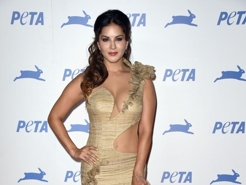 Sunny Leone was among a host of animal lovers such as Pamela Anderson and Ireland Baldwin at the 35th Anniversary Party at Hollywood Palladium in Los Angeles. (AFP)