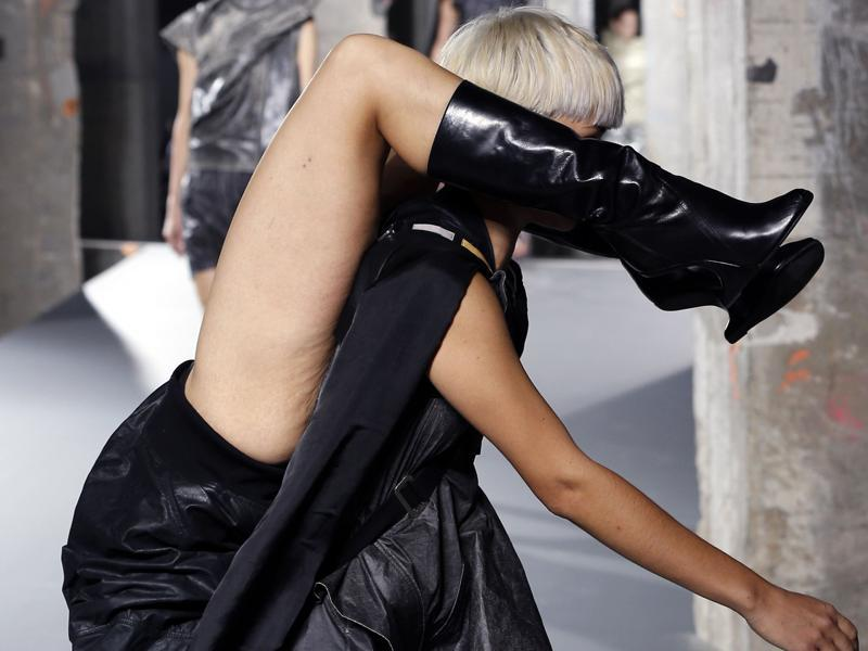 This is not the first time that the haute goth designer presented shocking statements on the ramp. (AFP)
