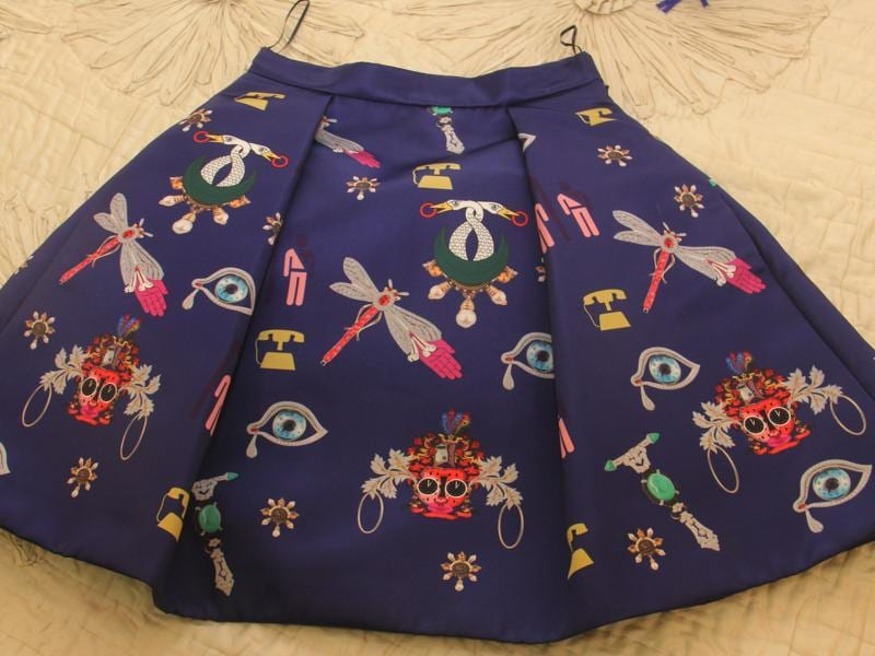 One of her favourite skirts, Bhatia  loves this Mary Katrantzou piece (Pramod Thakur/ Hindustan Times)