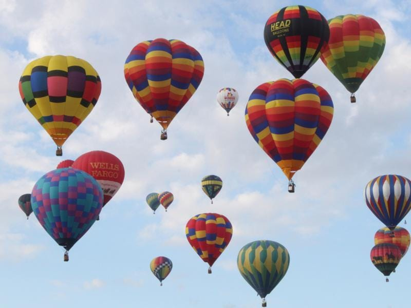 A combination of factors makes Albuquerque the perfect place for the fiesta: typically clear skies, cool mornings and wind patterns at various elevations that help keep the balloons aloft over the city. (AP)