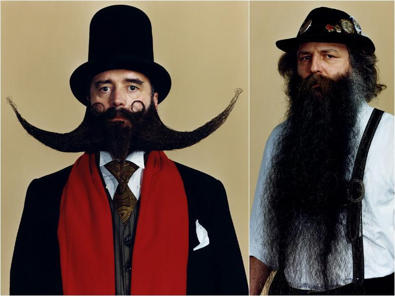 This year, men competed in 16 different categories organized into three groups: mustache, partial beard and full beard. (worldbeardchampionships.com)