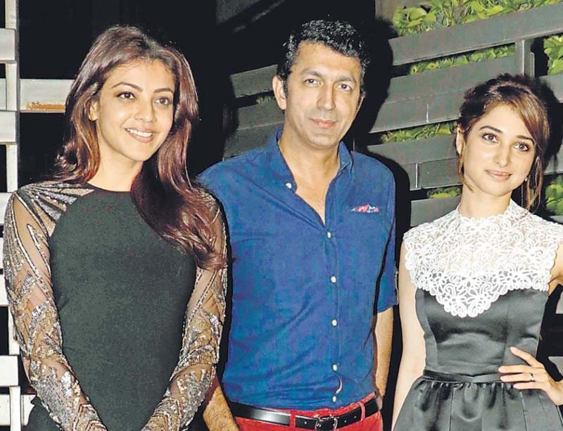 Kajal Aggarwal, Kunal Kohli and Tamannaah at an event in Mumbai. (Yogen Shah)