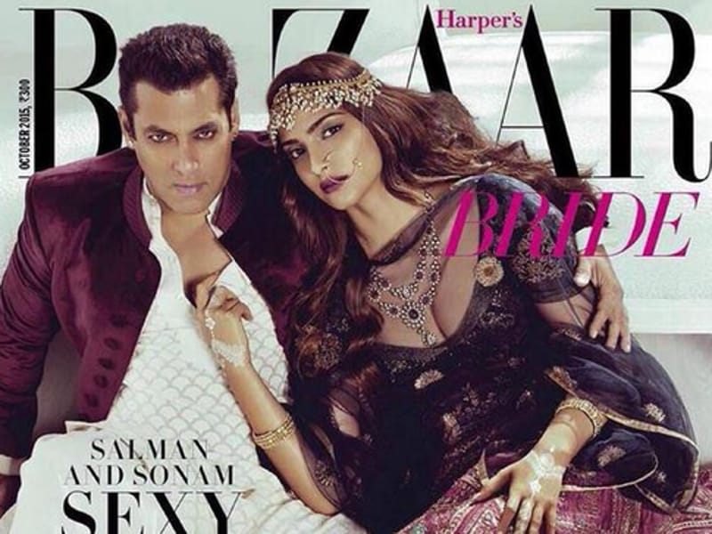When Salman Khan decides to bring the scorch on, there are few who can touch him. On the cover of Harper's Bazaar with Sonam Kapoor. (Harper's bazaar)