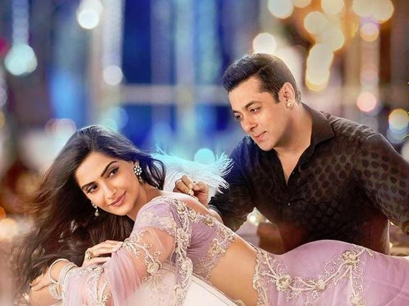 Salman and Sonam on the poster of their upcoming movie.