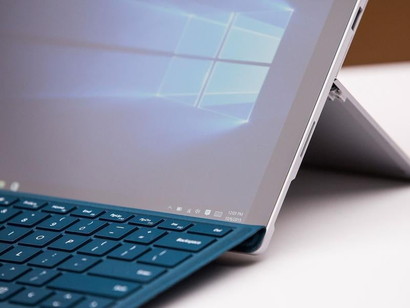 The Surface Pro 4 keyboard will also have a built-in fingerprint sensor to make unlocking the device faster and easier.  (AFP)