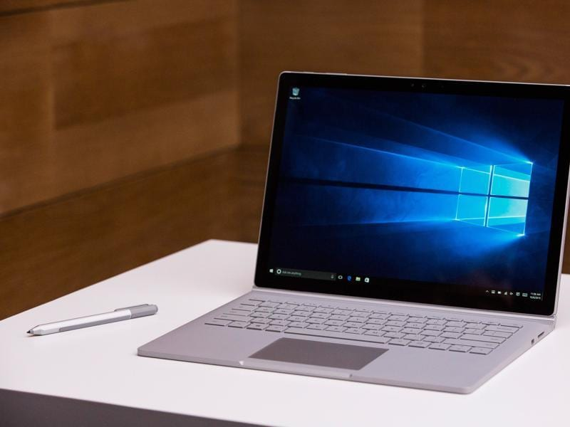 Microsoft announced its first ever laptop called the Surface Book, which is a high-end, 13-inch laptop that is priced at $1,499 (and up).  (AFP)