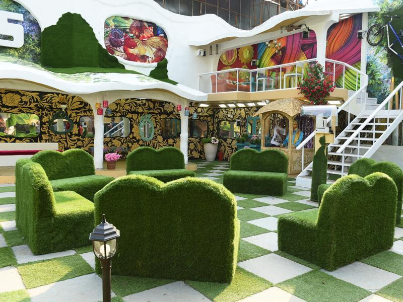 A view of the garden and the special Sky Lounge of the new Bigg Boss house. (Colors)
