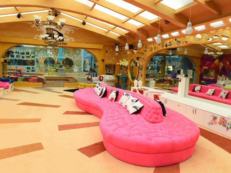 The lounge inside the brand new Bigg Boss season 9 house. (Colors)
