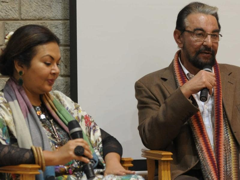 Kabir Bedi during an interactive session at the Khuswant Singh Lit Fest 2015. (Keshav Singh/HT Photo)