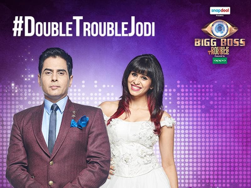 Aman Verma and Kishwar Merchant entered Bigg Boss 9 as partners after Kishwar rejected Prince Narula and chose Aman. (COLORS)