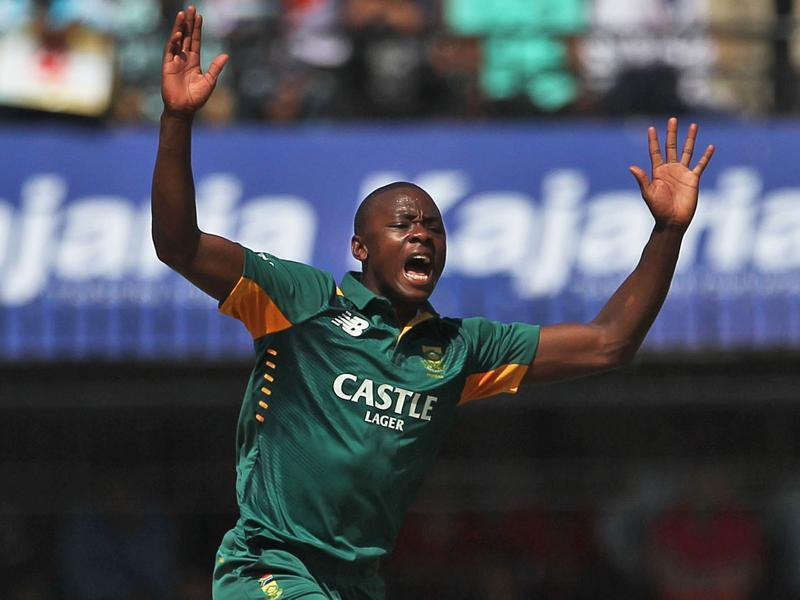 South Africa's Kagiso Rabada appeals for a wicket. (AP Photo)