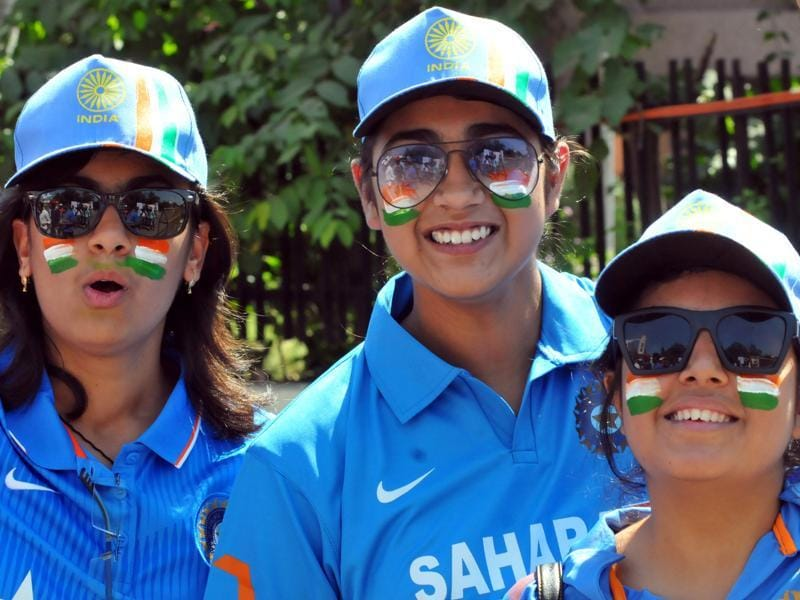 Cricket fans painted their face and body to show their love for the game, in Indore. (Shankar Mourya/HT Photo)