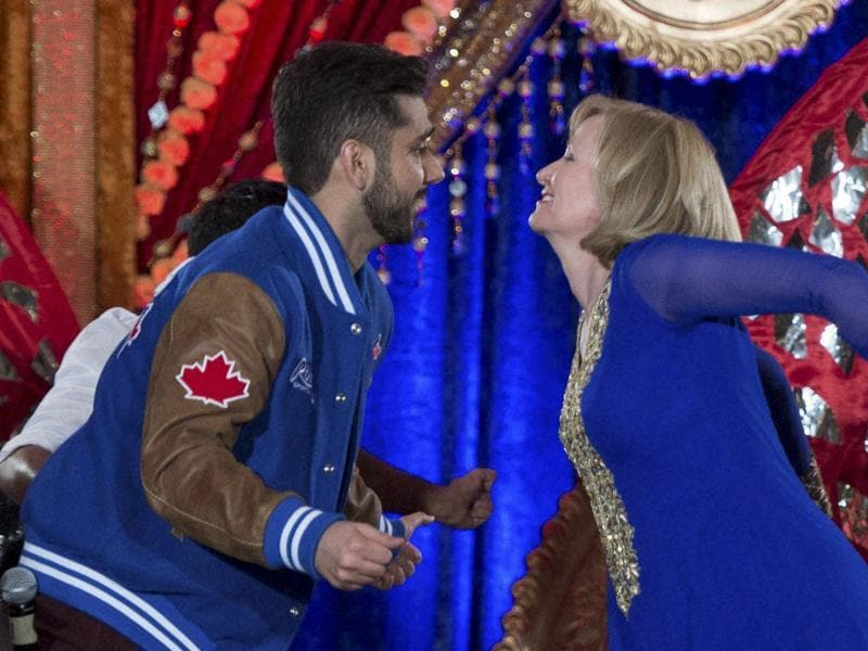 Laureen Harper did prove that she is second to none when it comes to rocking Bollywood dance moves. (AP)