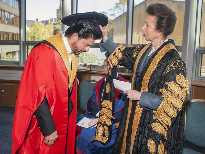 """If you ever find yourself cheated of all your money and sleeping on a grave, do not fear, a miracle is near, either that or a ghost"": With the Princess Royal of Edinburgh. (AP)"