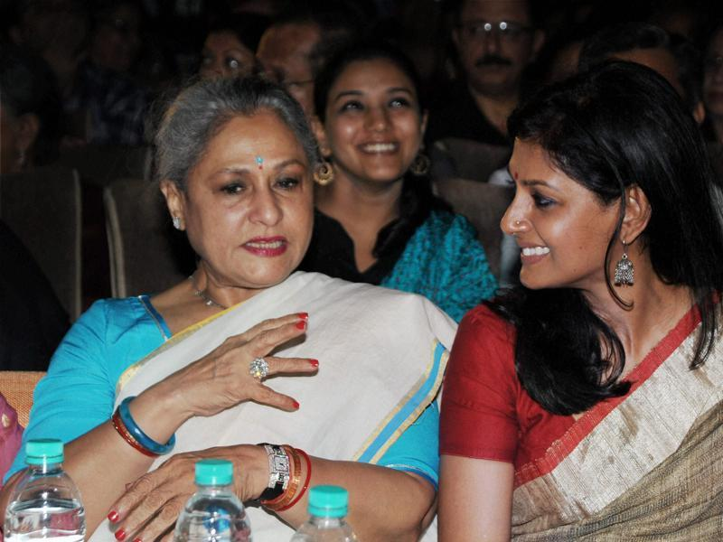 Jaya Bachchan (left) and Nandita Das attended the launch of Smita Patil's biography - Smita Patil: A Brief Incandescence by Maithili Rao. (PTI)