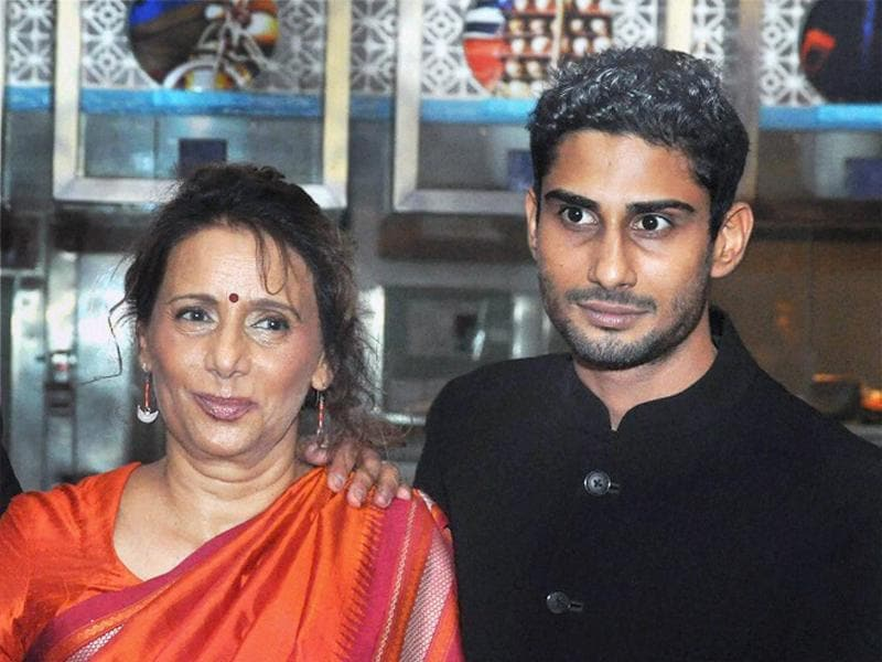 Smita Patil's son Pratiek Babbar with Anita Deshmukh, the actor's sister, attended the launch of her biography. (PTI)
