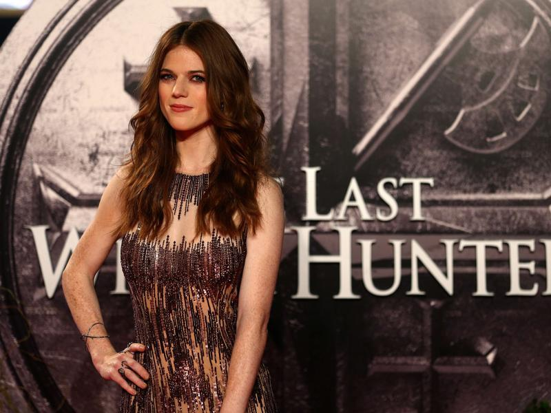 Game of Thrones actor Rose Leslie arrives on the red carpet to attend the European premiere of the film The Last Witch Hunter in London. (AFP)
