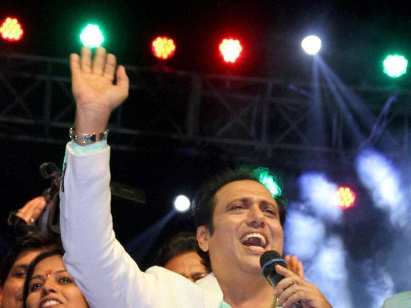 Bollywood actor Govinda performs at a Dandiya night in Patna on Sunday night. (PTI)