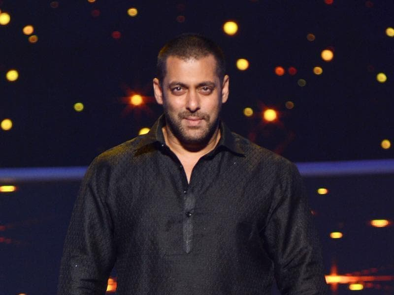 Salman Khan at a promotional event for Prem Ratan Dhan Payo in Mumbai late October 19, 2015. (AFP)