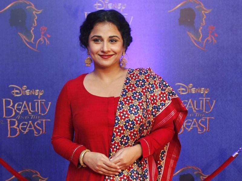 Bollywood actor Vidya Balan arrives to attend the premiere.  (Solaris Images)