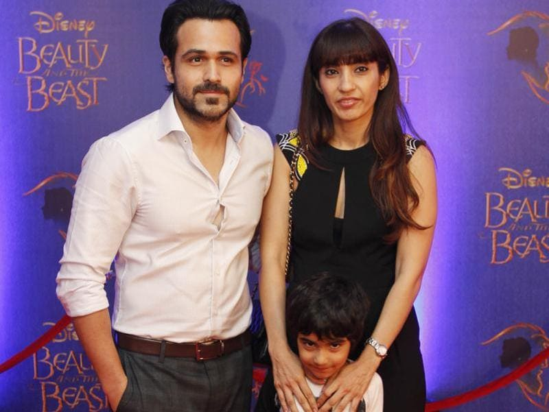 Bollywood actor Emraan Hashmi arrives for the premiere  accompanied by his wife and son. (Solaris Images)