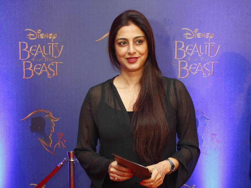 Celebrated  actor Tabu arrives to attend the premier of Disney India's stage musical Beauty and the Beast.  (Solaris Images)