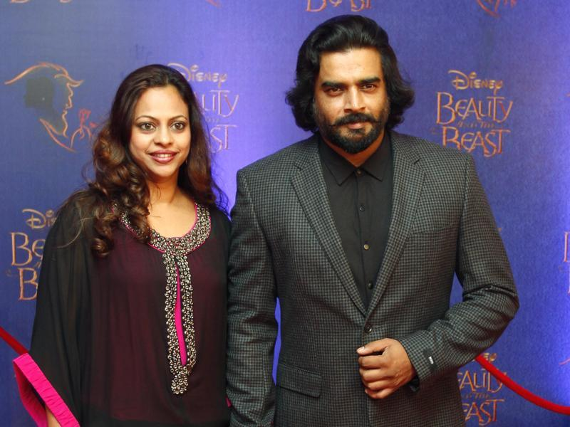 Tanu Weds Manu star, R Madhavan attended the premiere with his wife.  (Solaris Images)